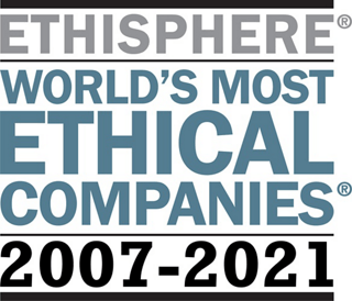 Logo for Ethisphere World's Most Ethical Companies